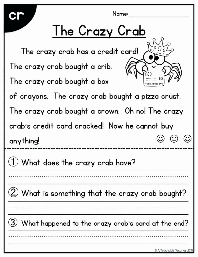 1st Grade Reading Worksheets Pdf Awesome Image Result for 1st Grade Reading Prehension