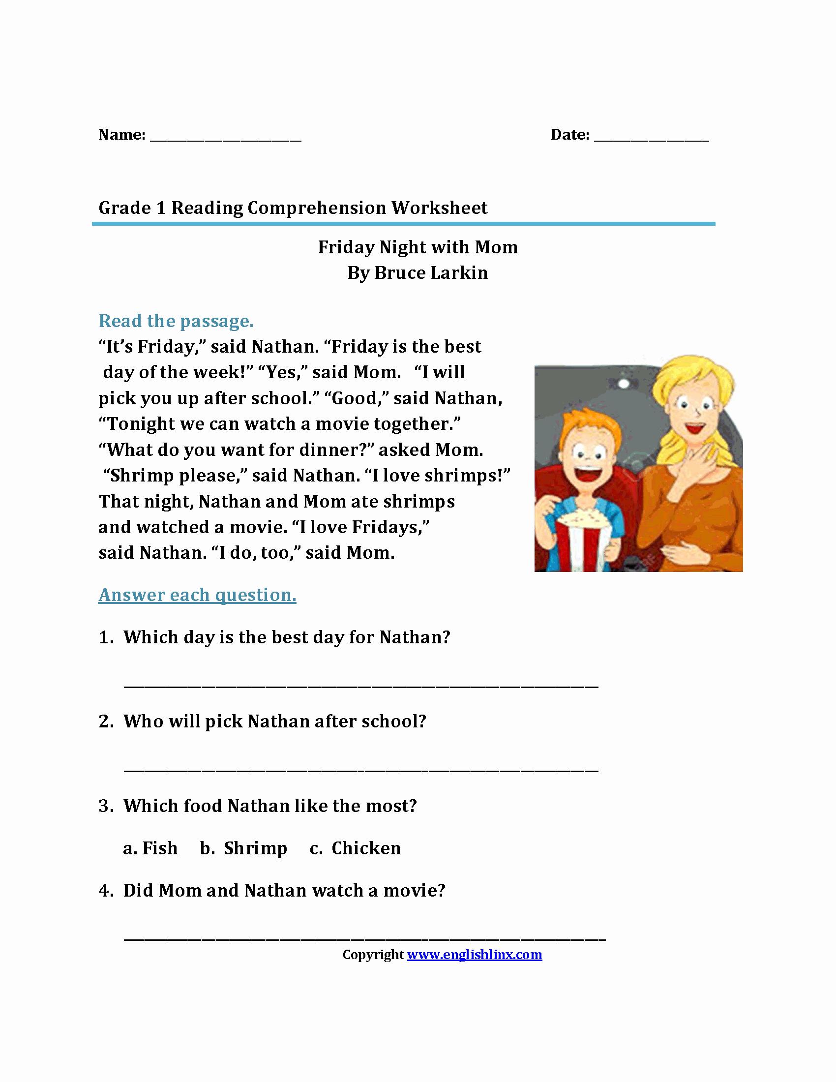 1st Grade Reading Worksheets Pdf Awesome Reading Worksheets
