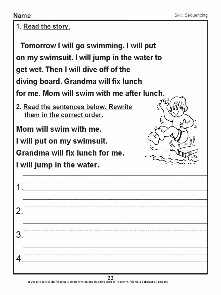1st Grade Reading Worksheets Pdf Elegant Scholastic 1st Grade Skills Reading Prehension 23 Pdf