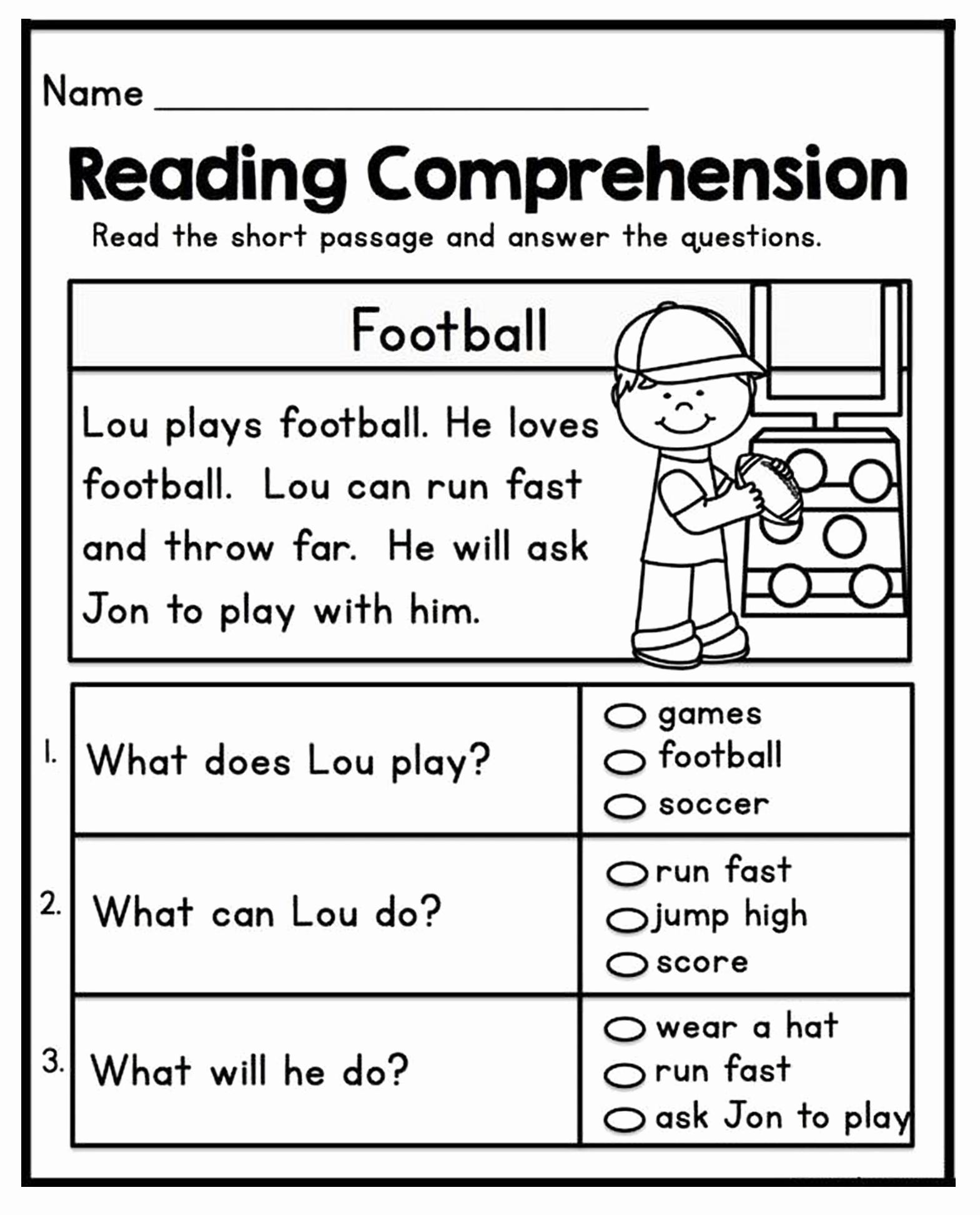 1st Grade Reading Worksheets Pdf Lovely 1st Grade Reading Prehension Worksheets Printable Pdf
