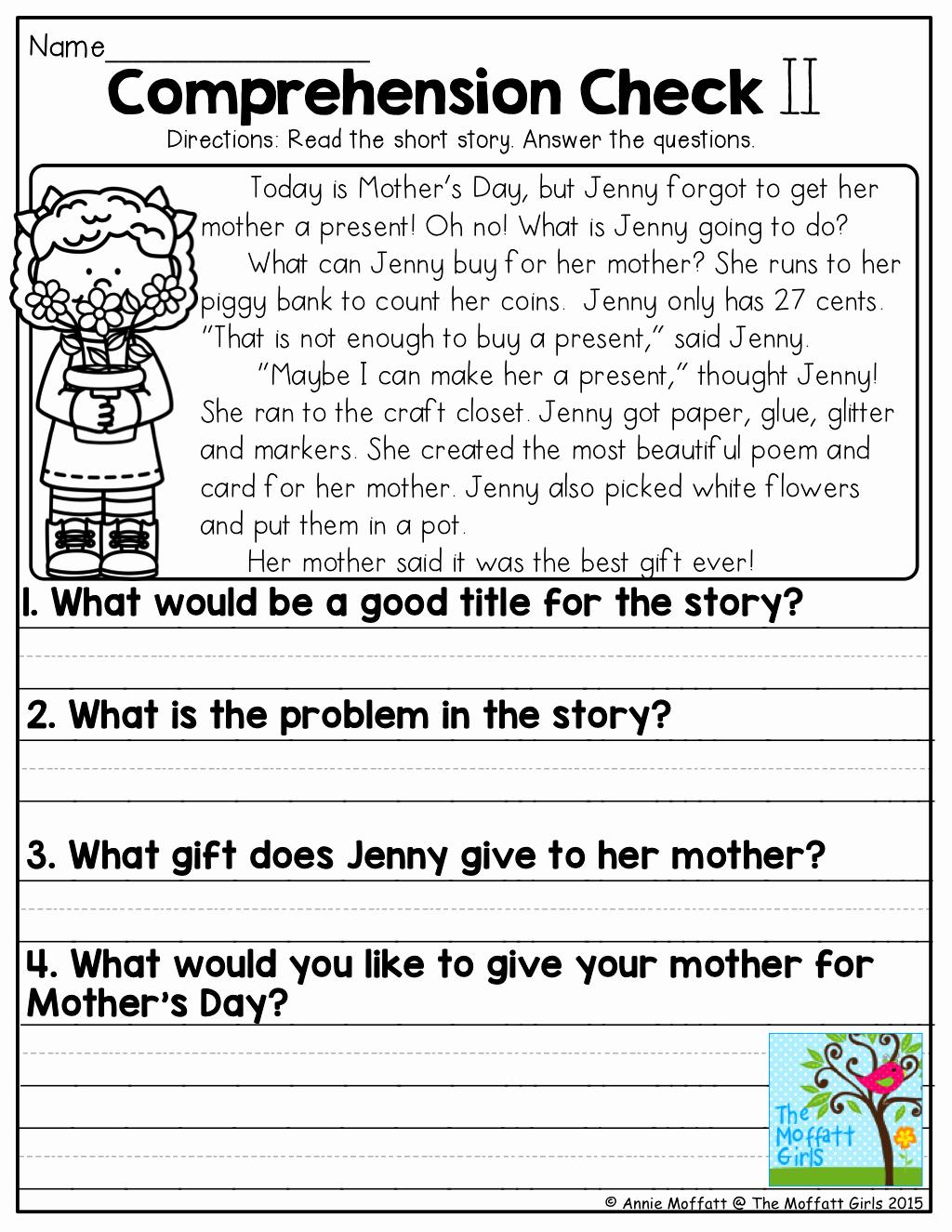 1st Grade Reading Worksheets Printable New Free 1st Grade Worksheet Reading 1st Grade Free