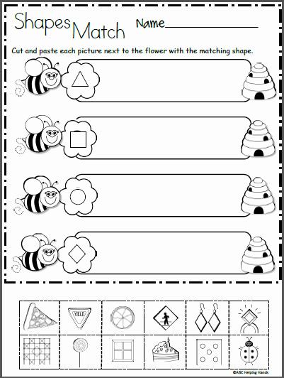 2d Shapes Worksheet Kindergarten Awesome Free 2d Shapes Math Worksheet for Kindergarten