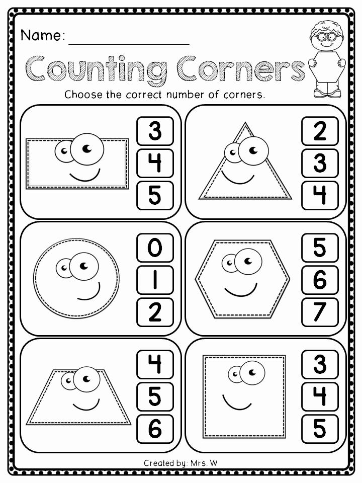 2d Shapes Worksheet Kindergarten Awesome Shapes