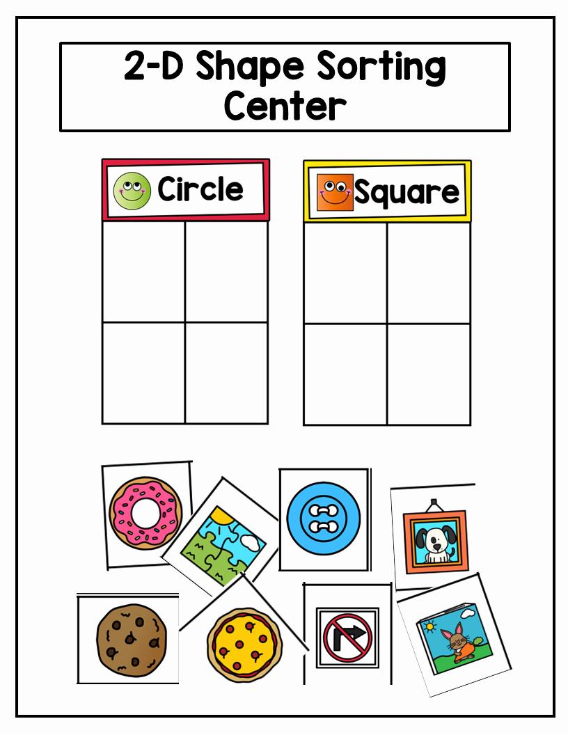 2d Shapes Worksheet Kindergarten Best Of Preschool Geometry 2d Shapes