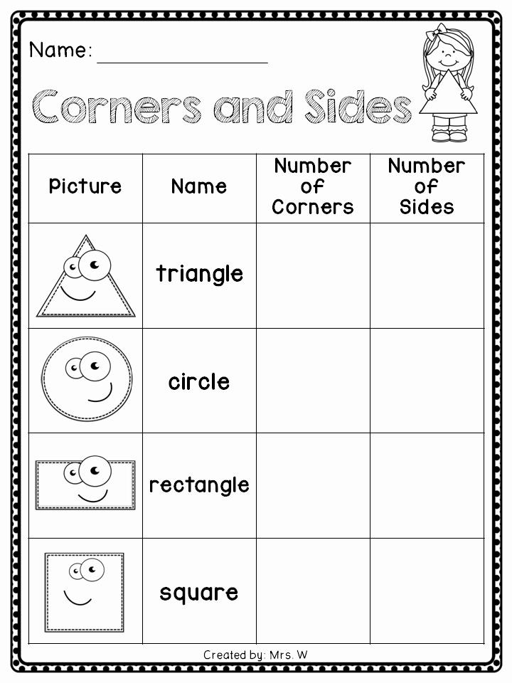 2d Shapes Worksheet Kindergarten Lovely Shapes