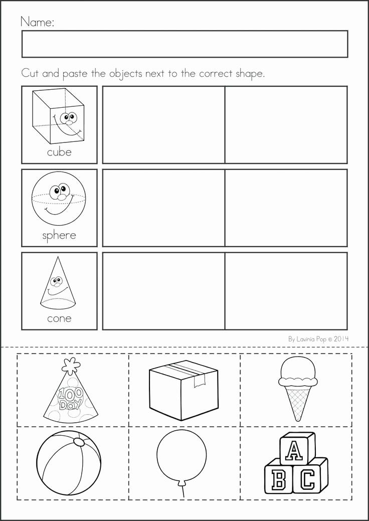 2d Shapes Worksheet Kindergarten New 2d Shapes Worksheet Kindergarten In 2020