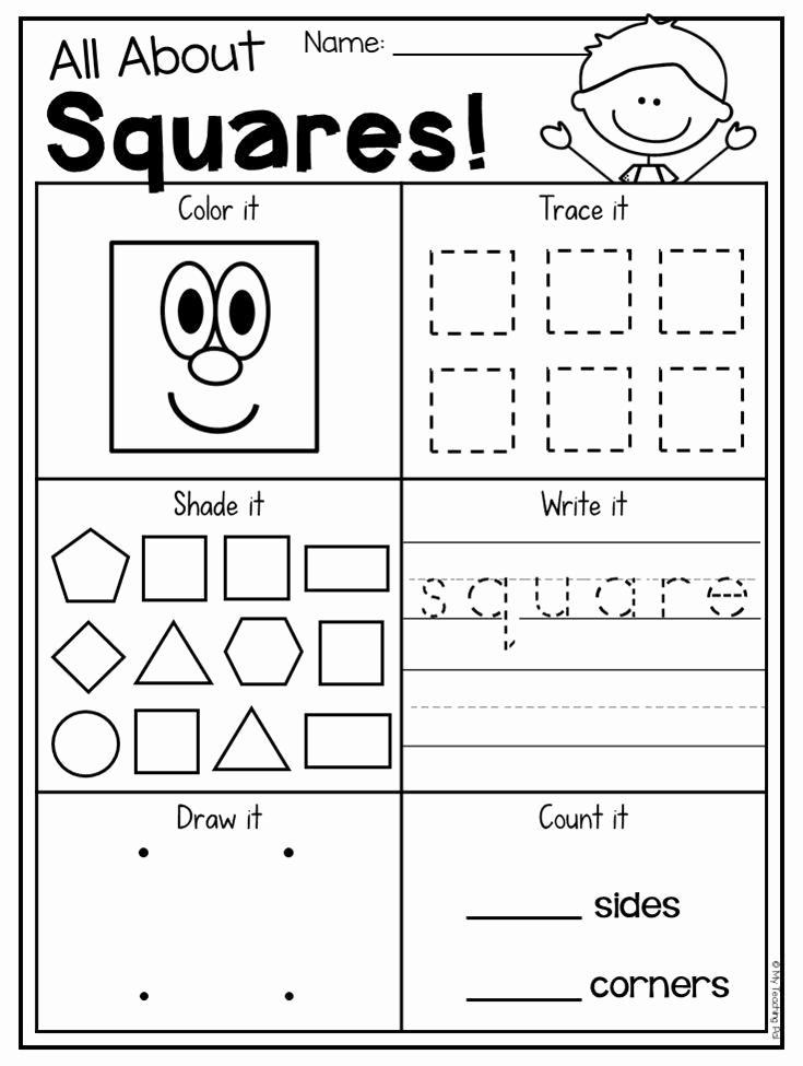 2d Shapes Worksheet Kindergarten New Kindergarten 2d and 3d Shapes Worksheets
