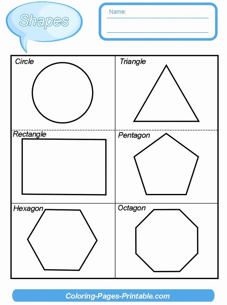 2d Shapes Worksheet Kindergarten Unique 2 Dimensional Shapes Worksheet New Two Dimensional Shapes