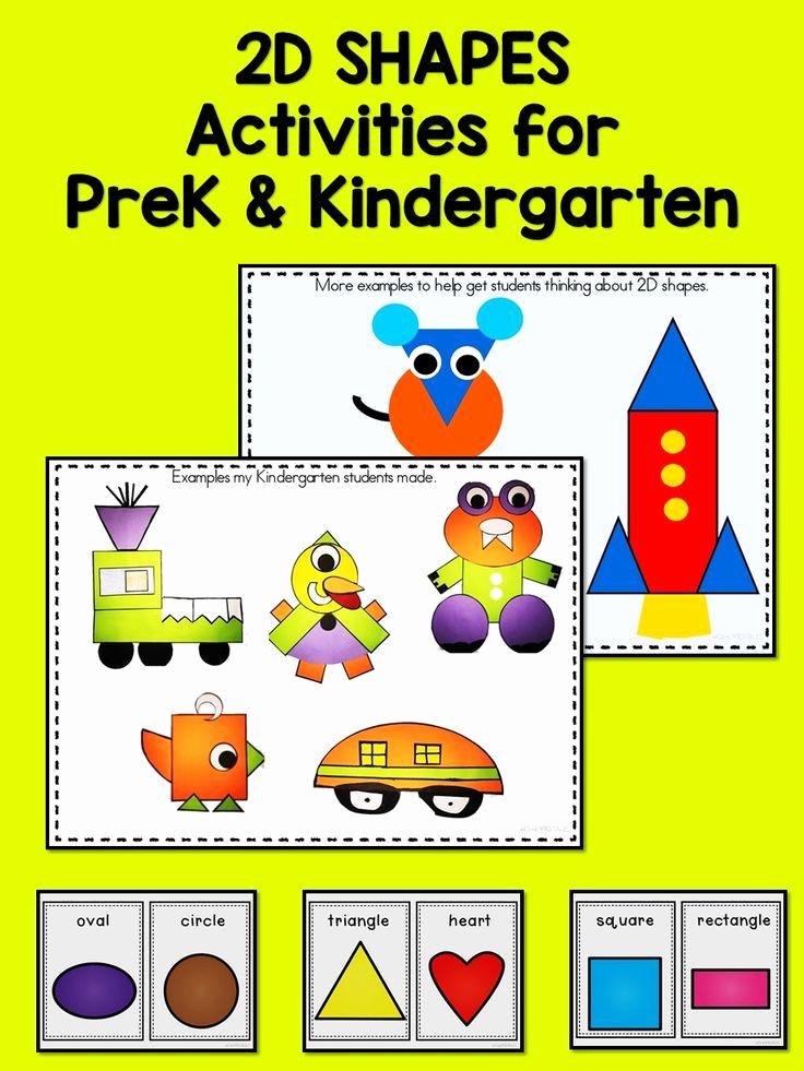 2d Shapes Worksheet Kindergarten Unique Distance Learning 2d Shape Worksheets