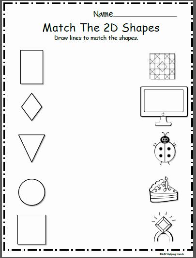 2d Shapes Worksheets Kindergarten Awesome 2d Printable Shapes Preschool Worksheets – Worksheets Samples
