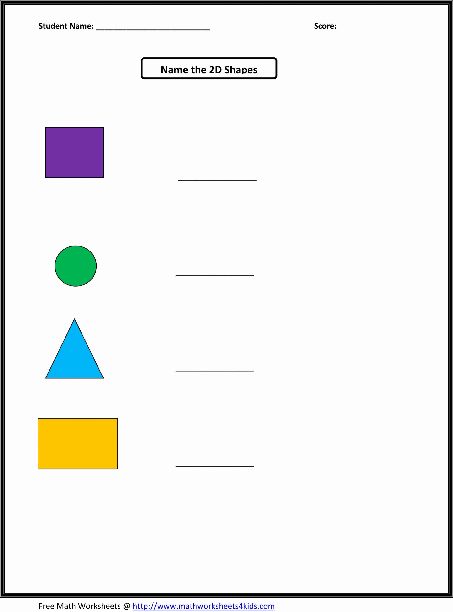 2d Shapes Worksheets Kindergarten Awesome Nbs Preschool