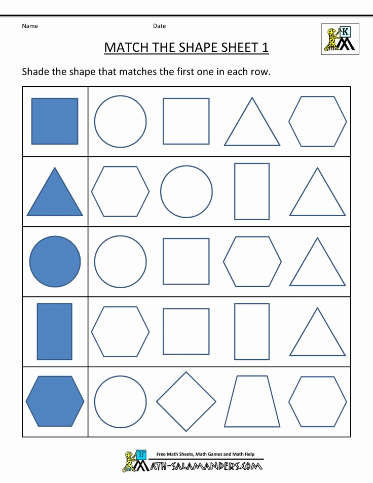 2d Shapes Worksheets Kindergarten Inspirational 2d Shapes Worksheets