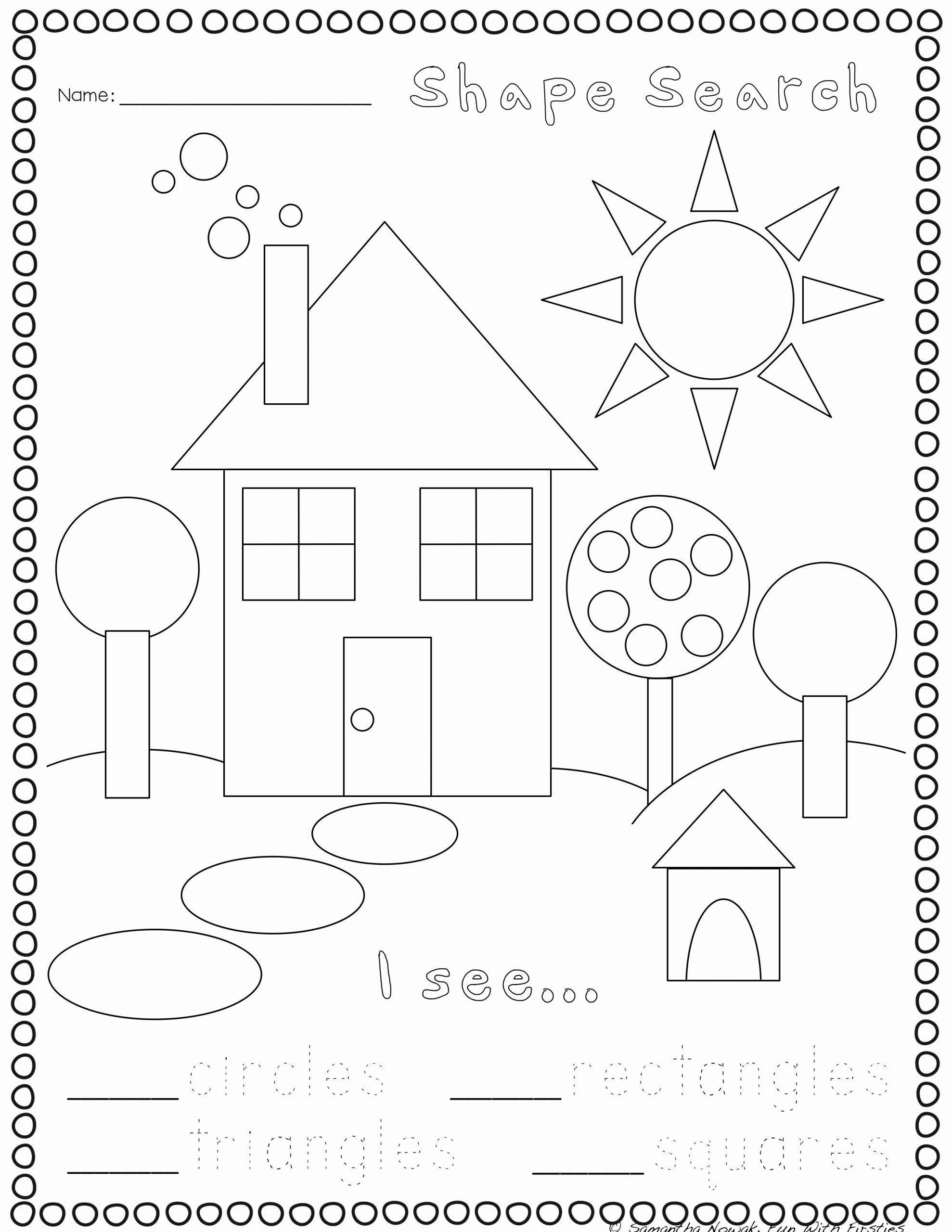 2d Shapes Worksheets Kindergarten Inspirational Print & Go 2d & 3d Geometry Practice Worksheets