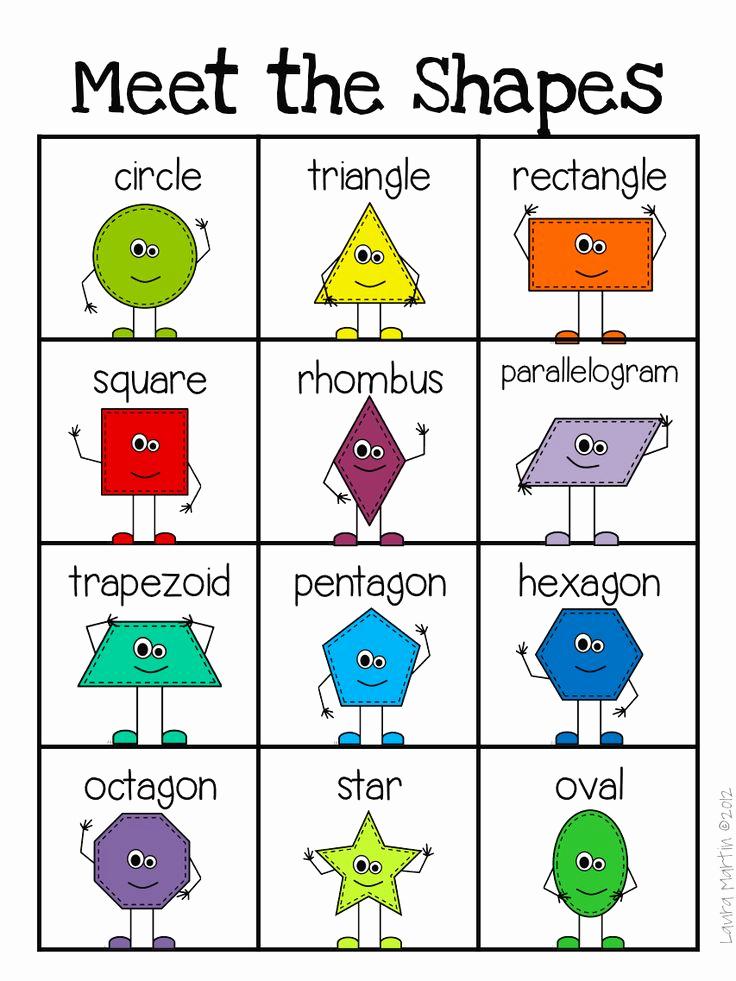 2d Shapes Worksheets Kindergarten Luxury Best 25 2d Shape Properties Ideas On Pinterest