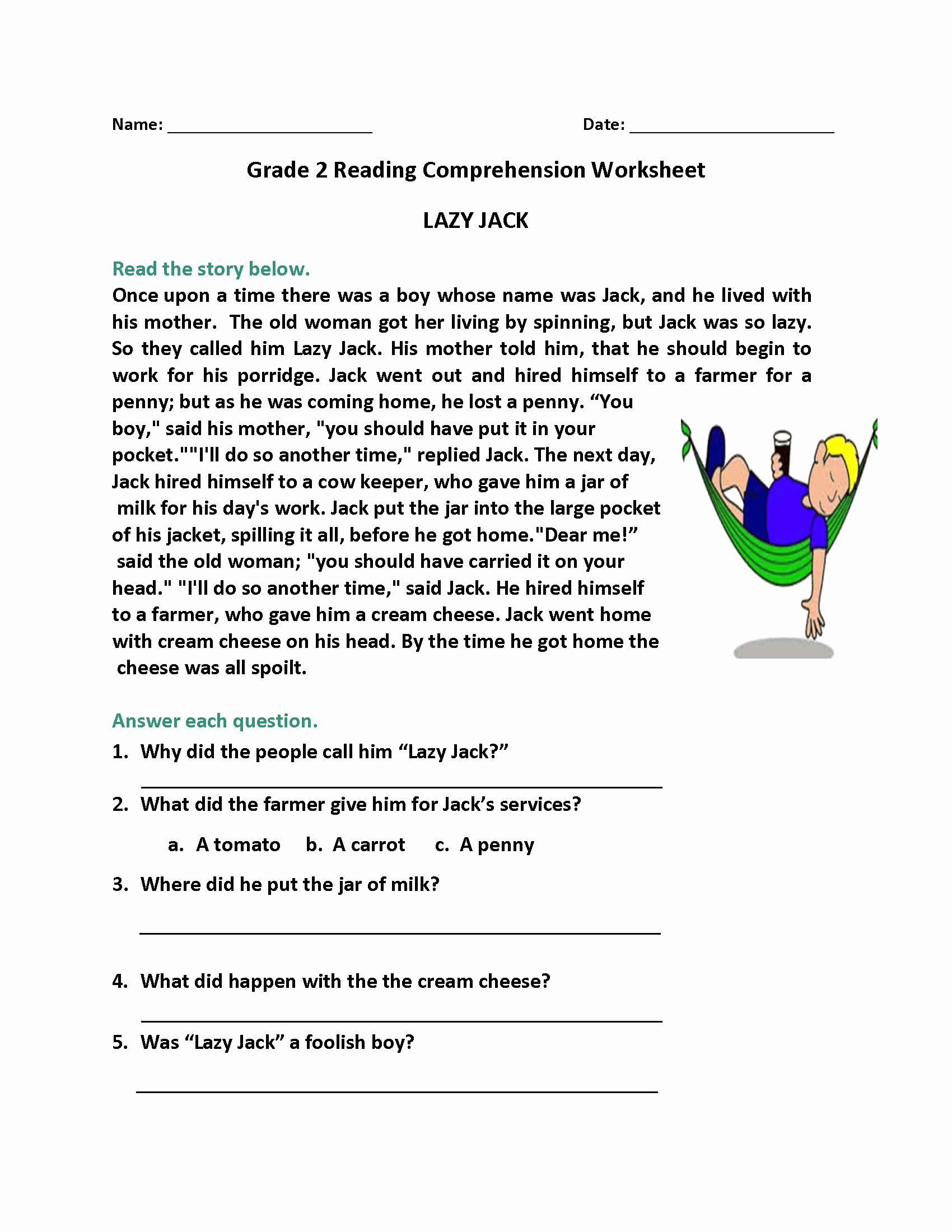 2nd Grade Grammar Worksheets Free Lovely 2nd Grade Reading Worksheets Best Coloring Pages for Kids