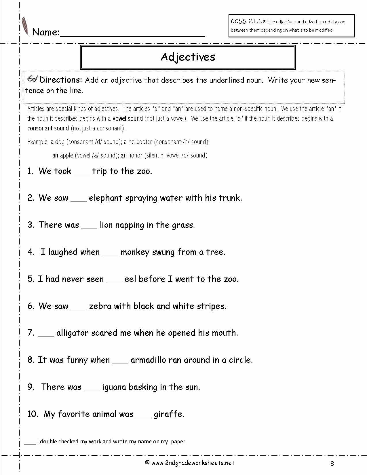 2nd Grade Grammar Worksheets Free Luxury Free Printable Grammar Worksheets for 2nd Grade