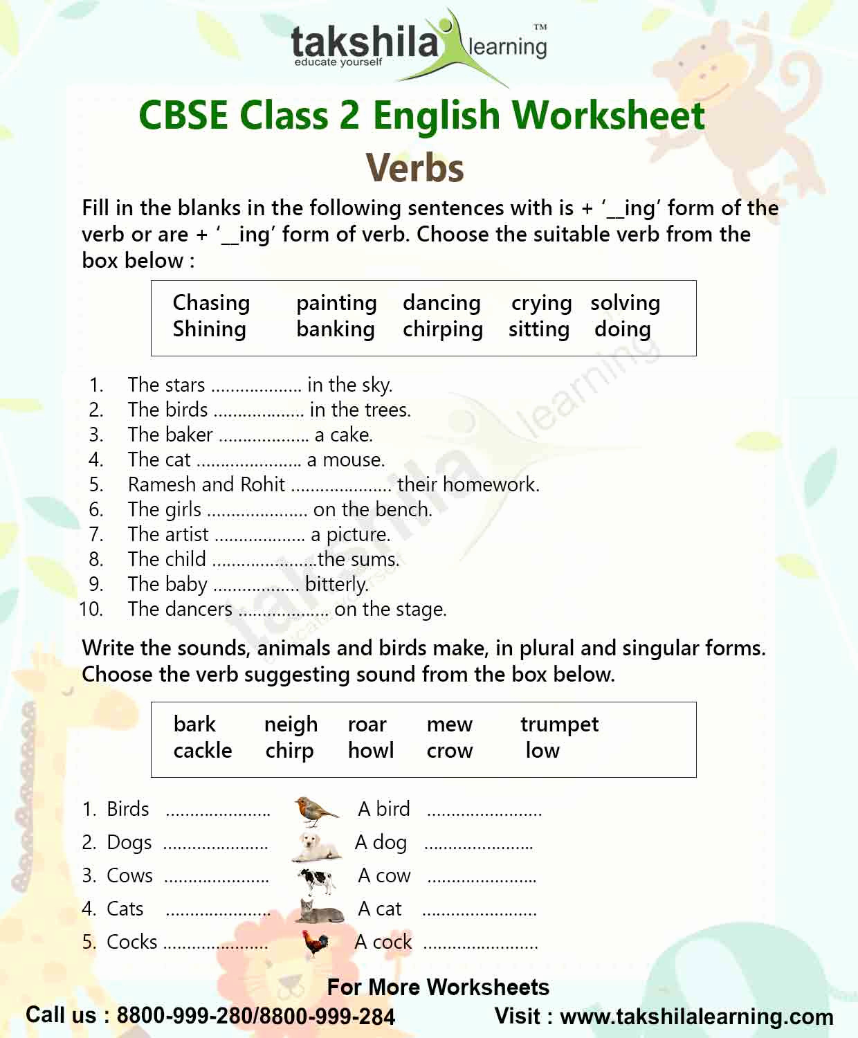 2nd Grade Grammar Worksheets Pdf Awesome Verbs Class 2nd English Grammar Worksheet for Practice