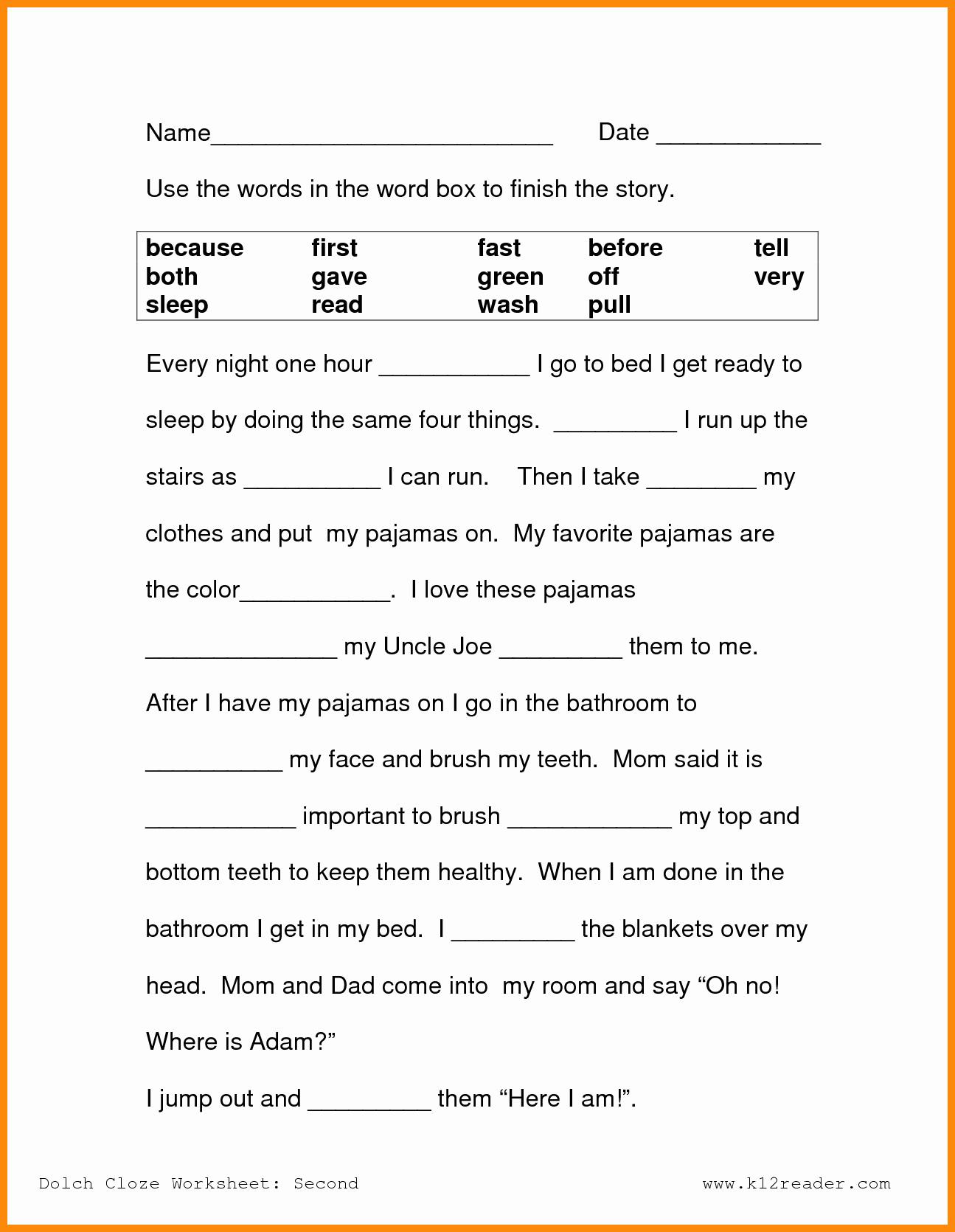 2nd Grade Grammar Worksheets Pdf Beautiful Free 2nd Grade Reading Prehension Worksheets Multiple