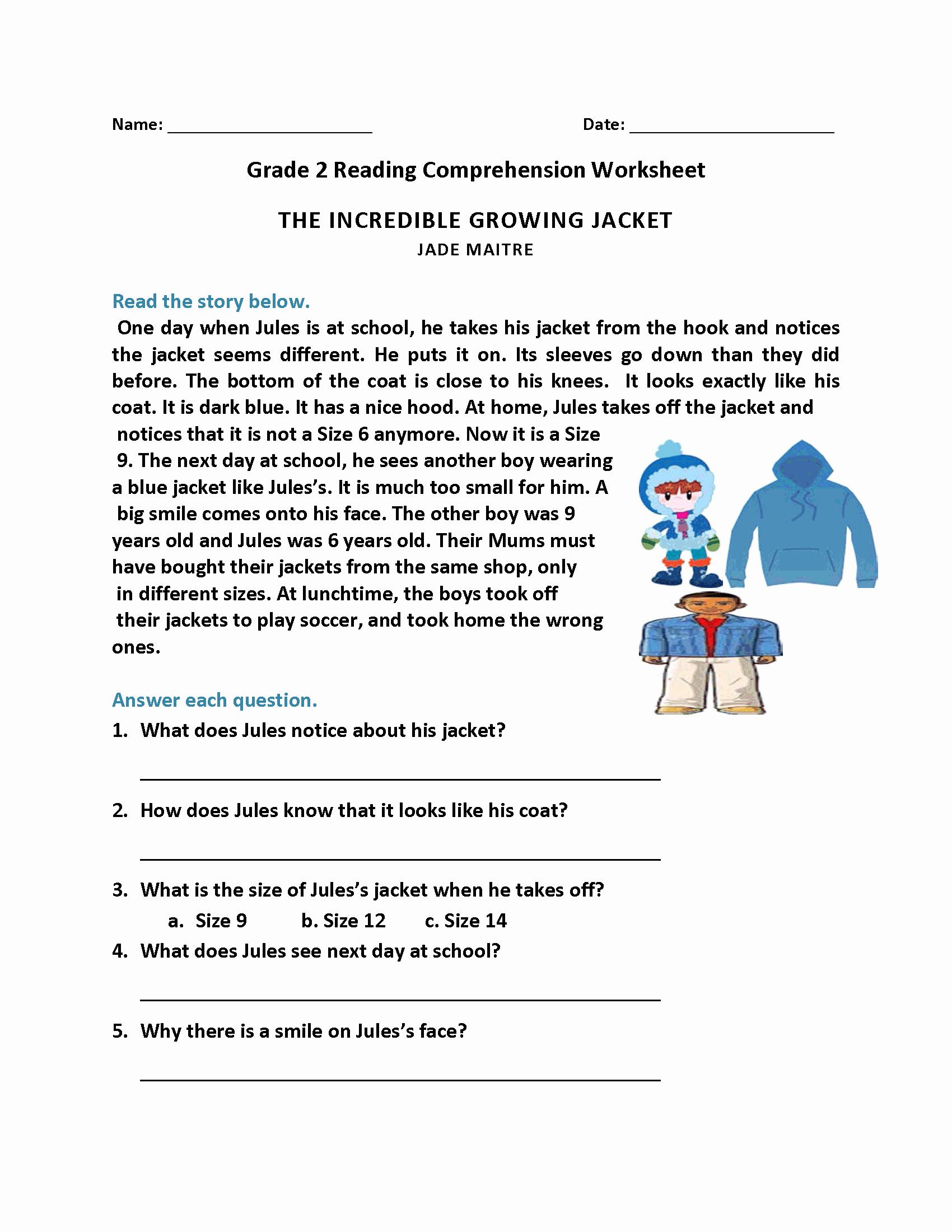 2nd Grade Grammar Worksheets Pdf Beautiful Year 2 English Prehension Worksheets Pdf Kidsworksheetfun