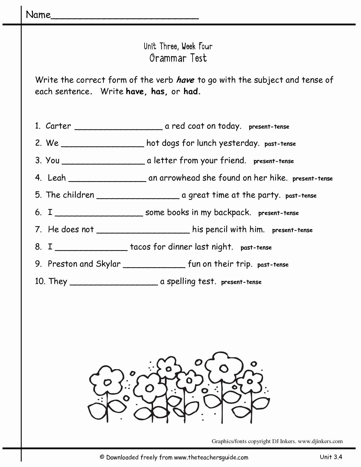 2nd Grade Grammar Worksheets Pdf Best Of 2nd Grade Grammar Worksheets Pdf New Worksheets for All