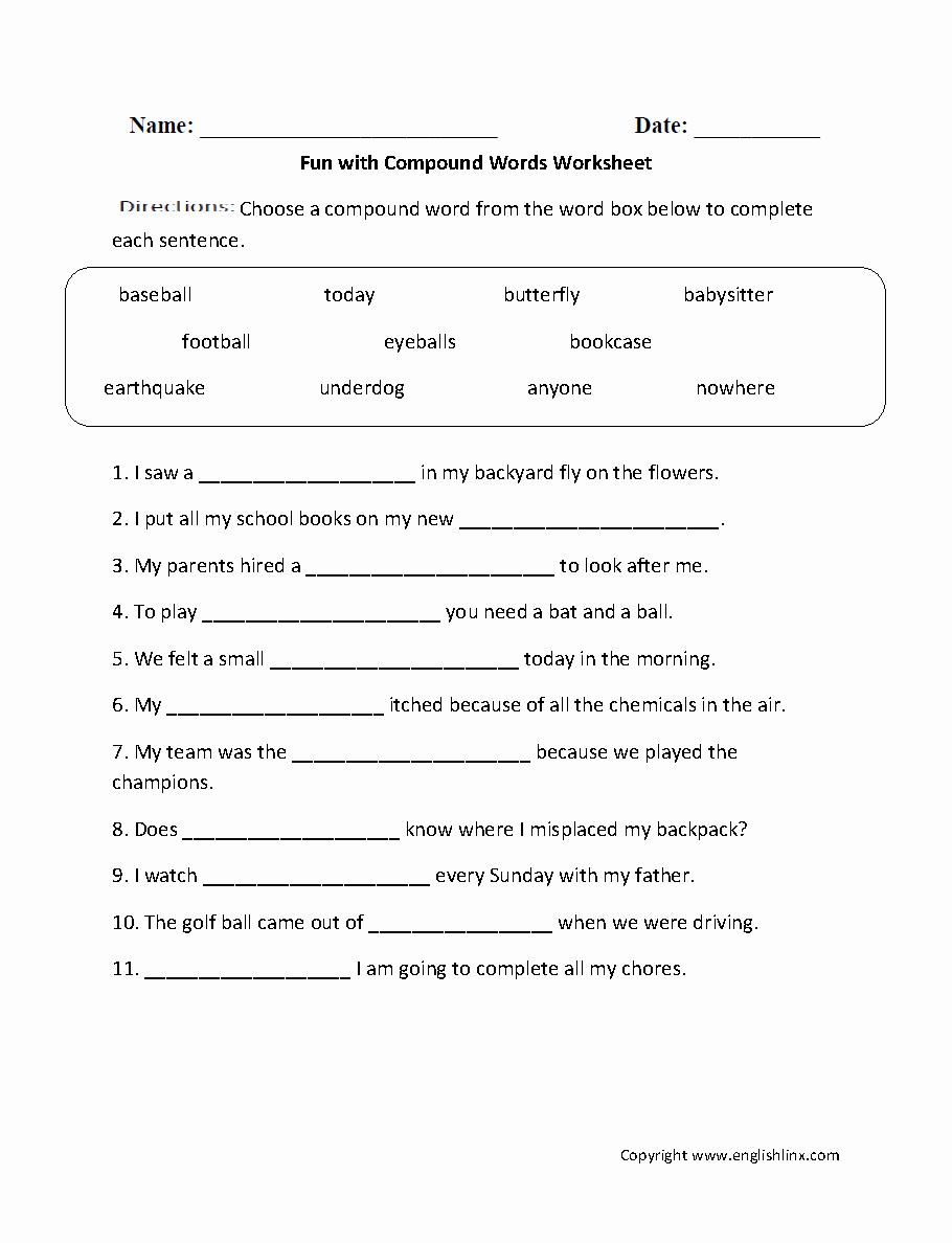 2nd Grade Grammar Worksheets Pdf Elegant 11 English Worksheets 2nd Grade Pdf Kidworksheet