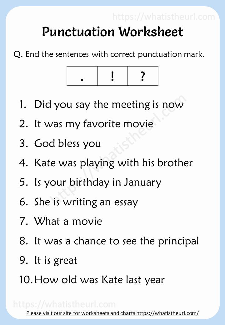 2nd Grade Grammar Worksheets Pdf Elegant Punctuation Worksheet for 2nd Grade Rel 3 Your Home Teacher
