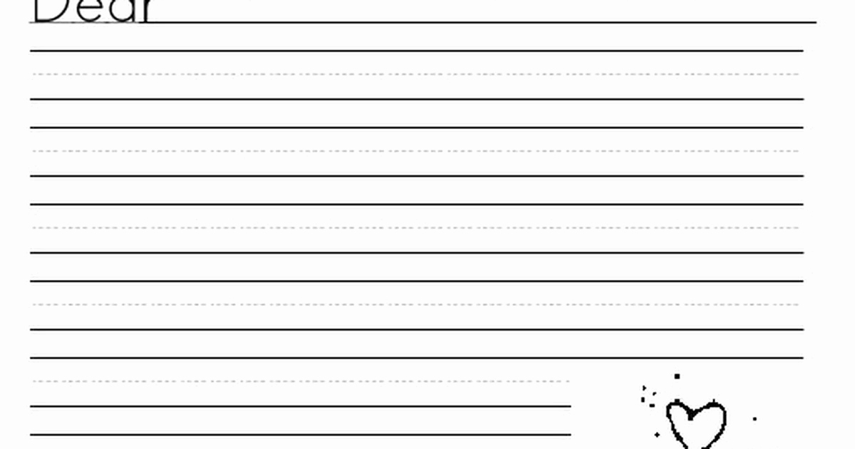 2nd Grade Handwriting Worksheets Pdf Awesome Letter Stationary Pdf