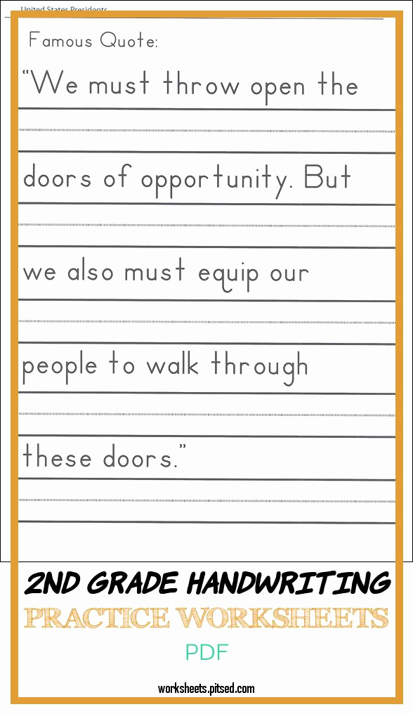 2nd Grade Handwriting Worksheets Pdf Inspirational 2nd Grade Handwriting Practice Worksheets Pdf – Super