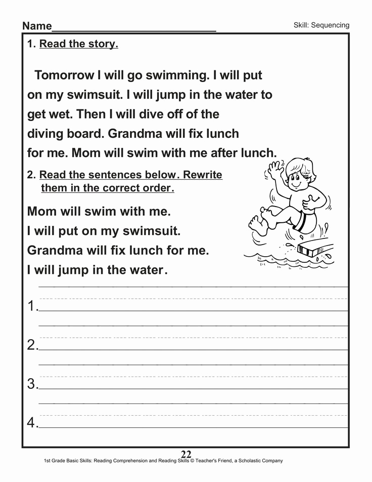 2nd Grade Sequencing Worksheets Fresh Sequencing Worksheet 2nd Grade Sentence Editing Worksheet
