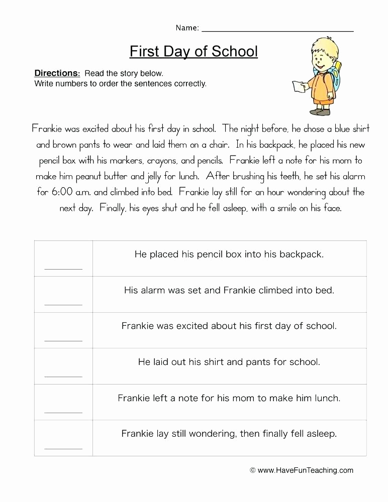 2nd Grade Sequencing Worksheets Inspirational 20 Sequence Worksheets 2nd Grade