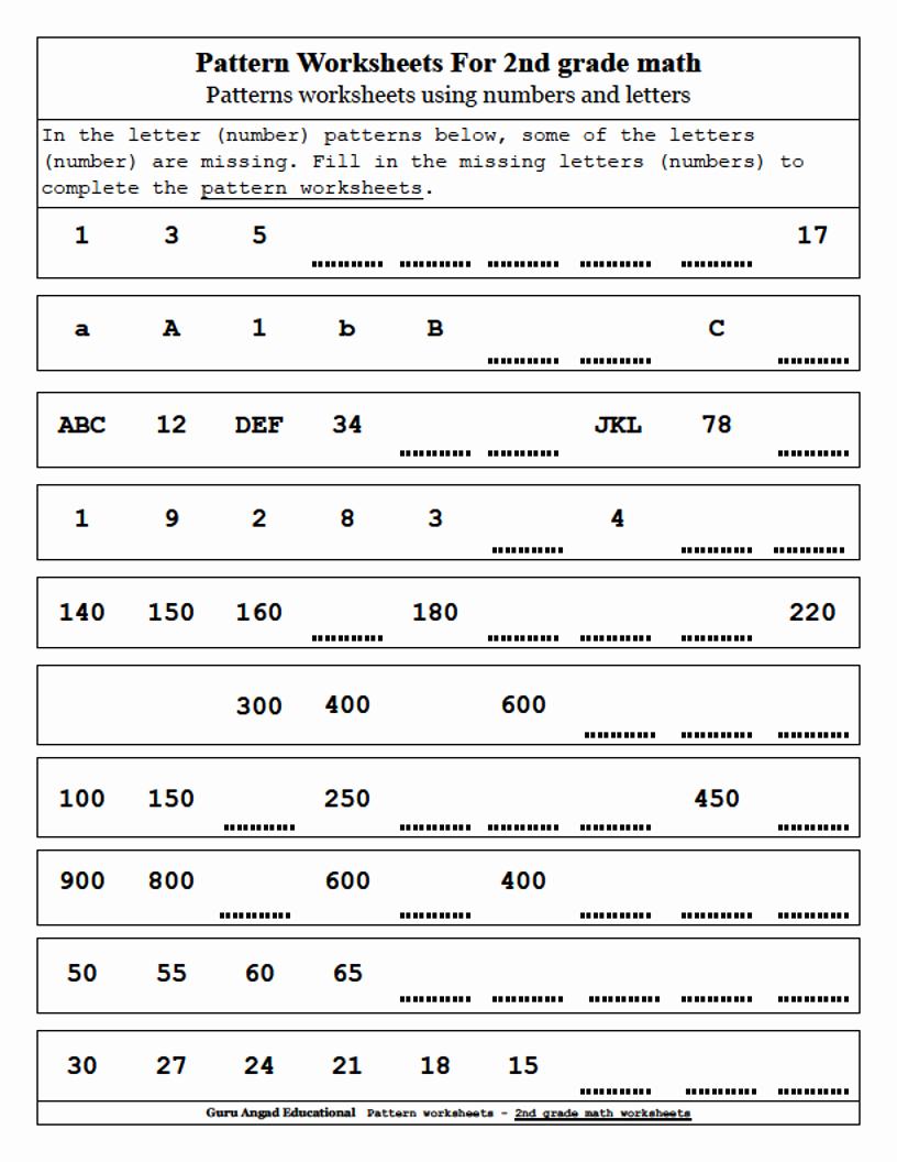 2nd Grade Sequencing Worksheets Unique Number Sequence Worksheets 2nd Grade