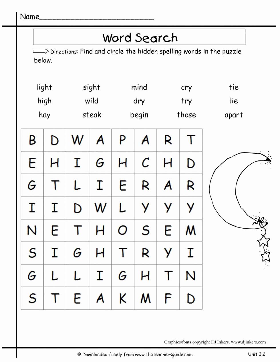 2nd Grade Spelling Worksheets Unique 2nd Grade Spelling Worksheets to Print 2nd Grade Spelling