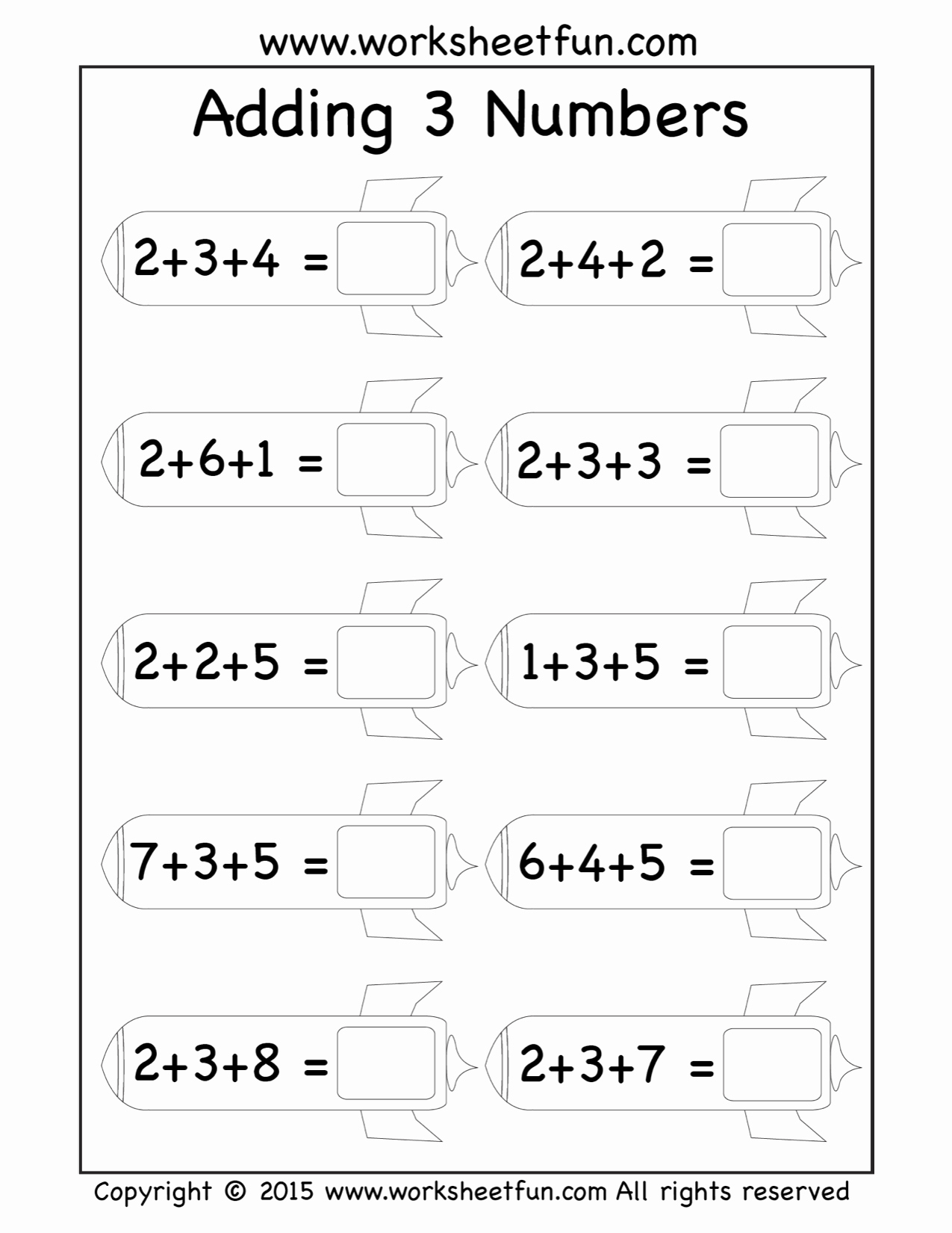 3 Addends Worksheets Best Of Free Three Addend Worksheets Adding 3 Numbers Rockets