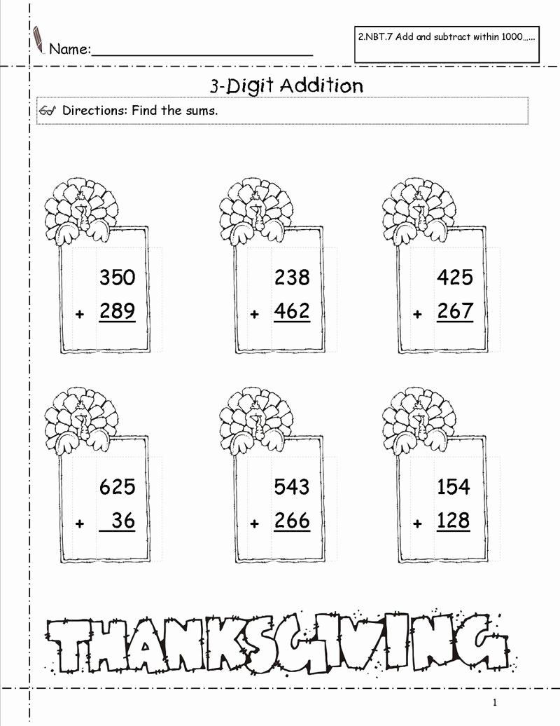 3 Addends Worksheets Lovely 3 Addends Worksheet 2 Digits Coloring Sheets