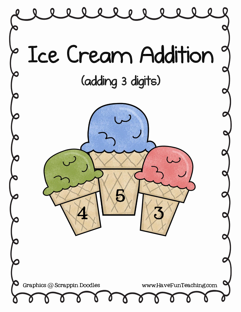 3 Addends Worksheets Lovely Three Addend Addition Activity • Have Fun Teaching