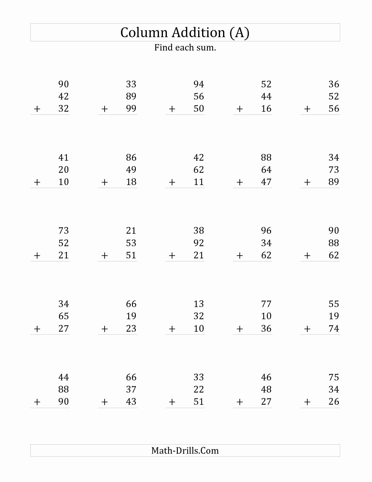3 Addends Worksheets Unique 17 Best Of 3 Addends Worksheet First Grade
