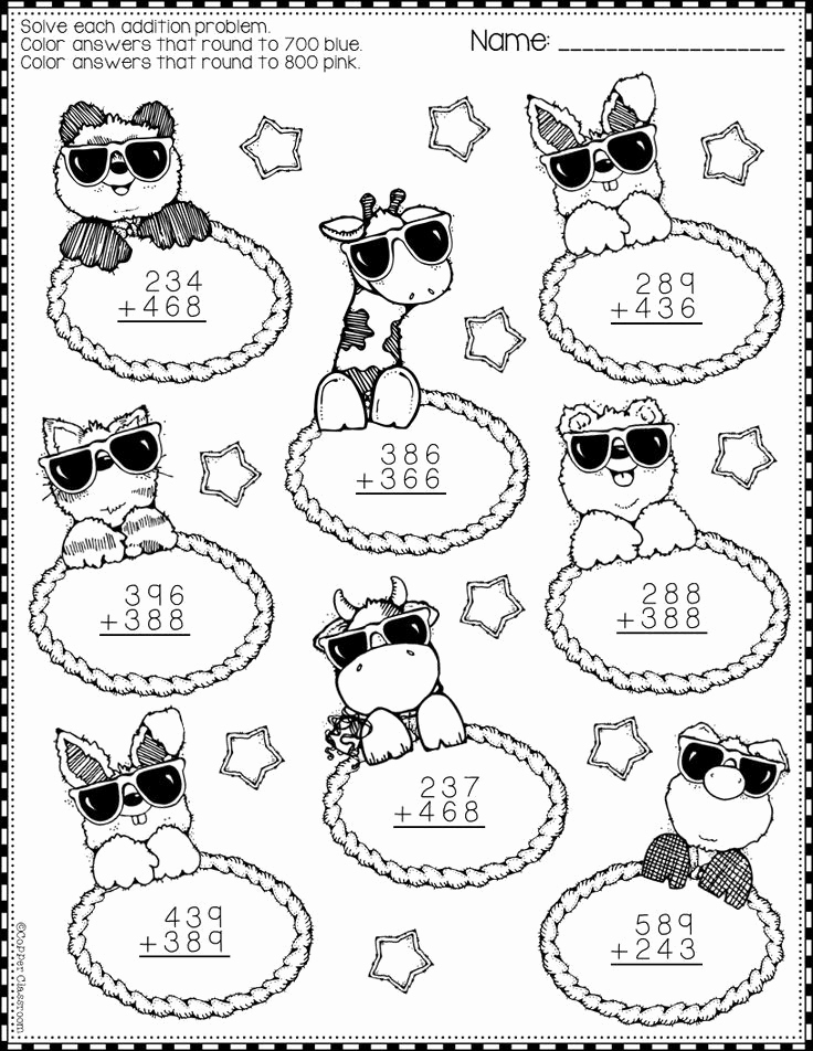 3 Digit Addition Coloring Worksheets Awesome Need Extra Addition Practice these Ten Pages Focus On