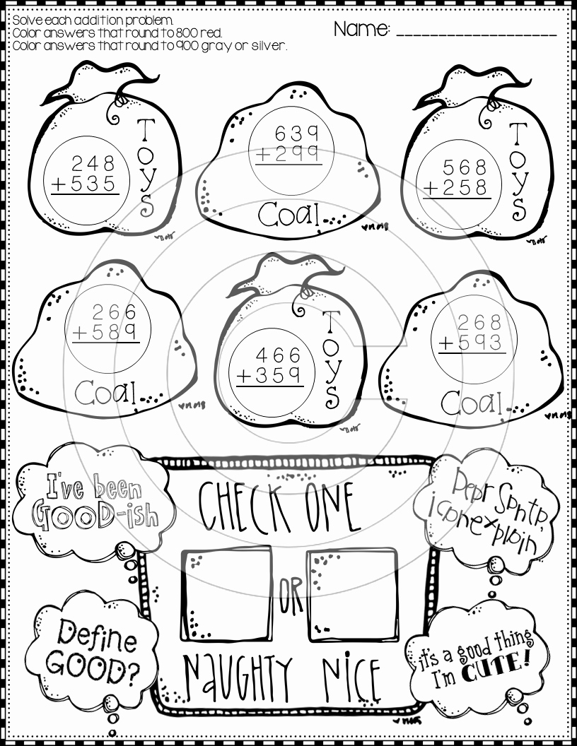 3 Digit Addition Coloring Worksheets Beautiful Christmas 3 Digit Addition with Regrouping Color by Code