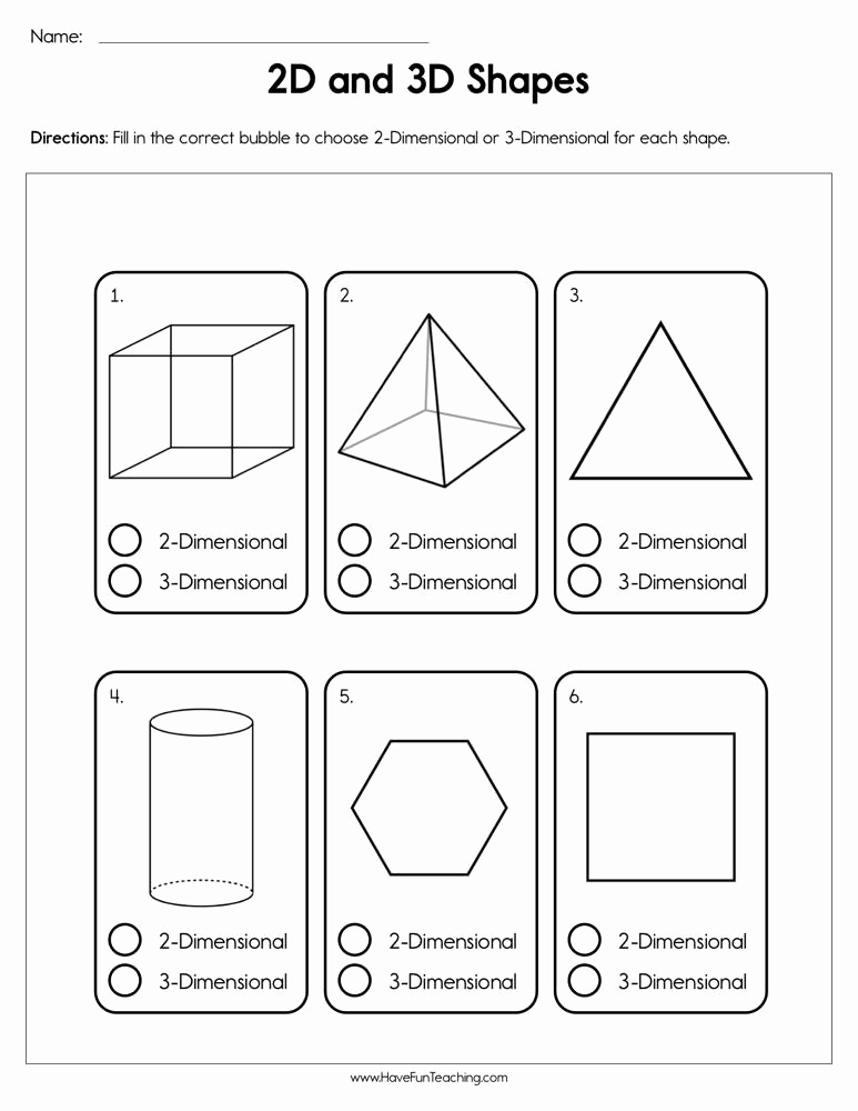 3 Dimensional Shapes Worksheet Awesome 30 3 Dimensional Shapes Worksheet