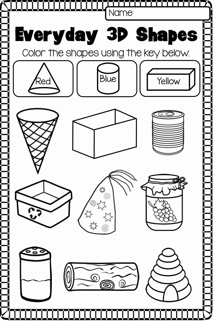 3 Dimensional Shapes Worksheet Beautiful 30 3 Dimensional Shapes Worksheet