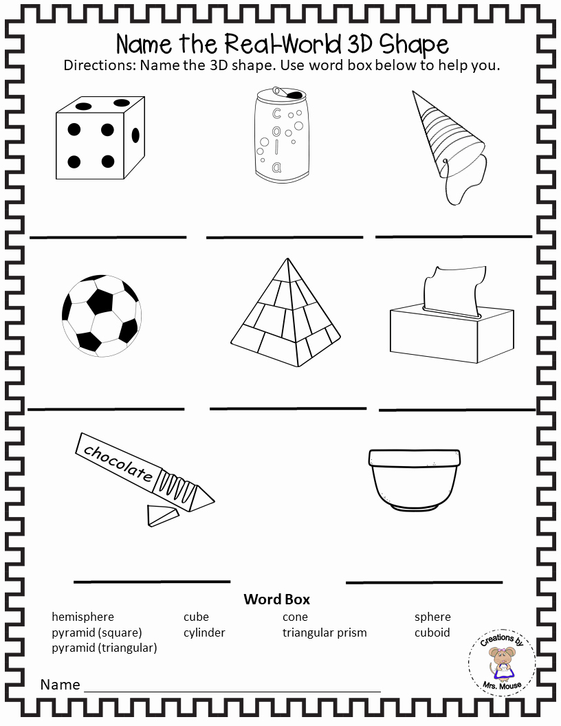 3 Dimensional Shapes Worksheet Beautiful Learning About 3 Dimensional 3d Shapes Madebyteachers