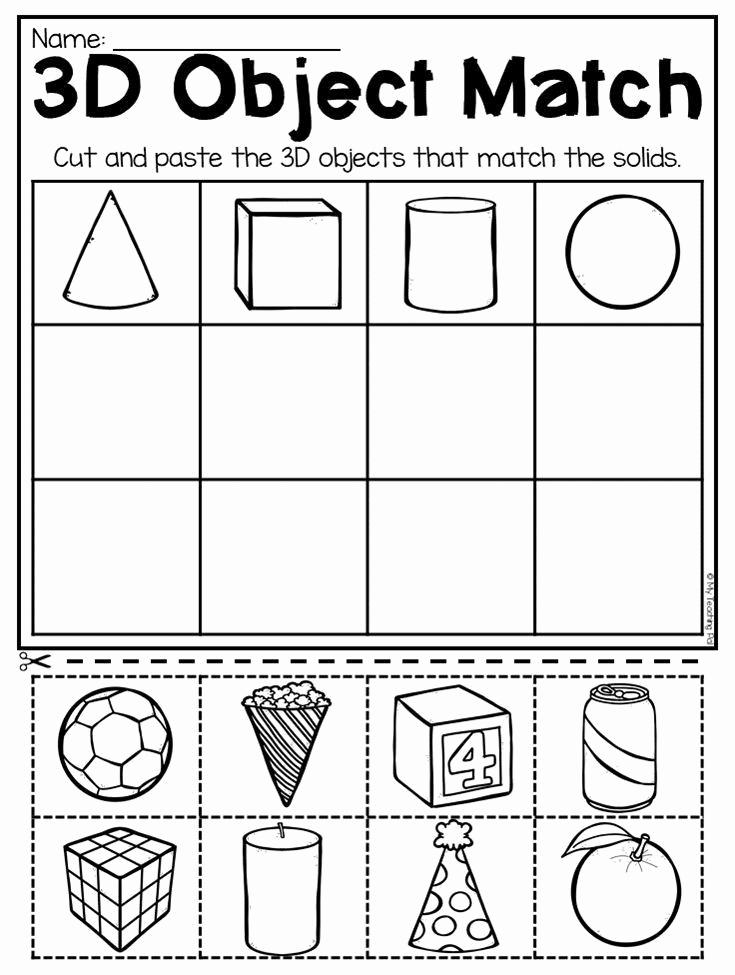 3 Dimensional Shapes Worksheet Best Of 30 3 Dimensional Shapes Worksheet