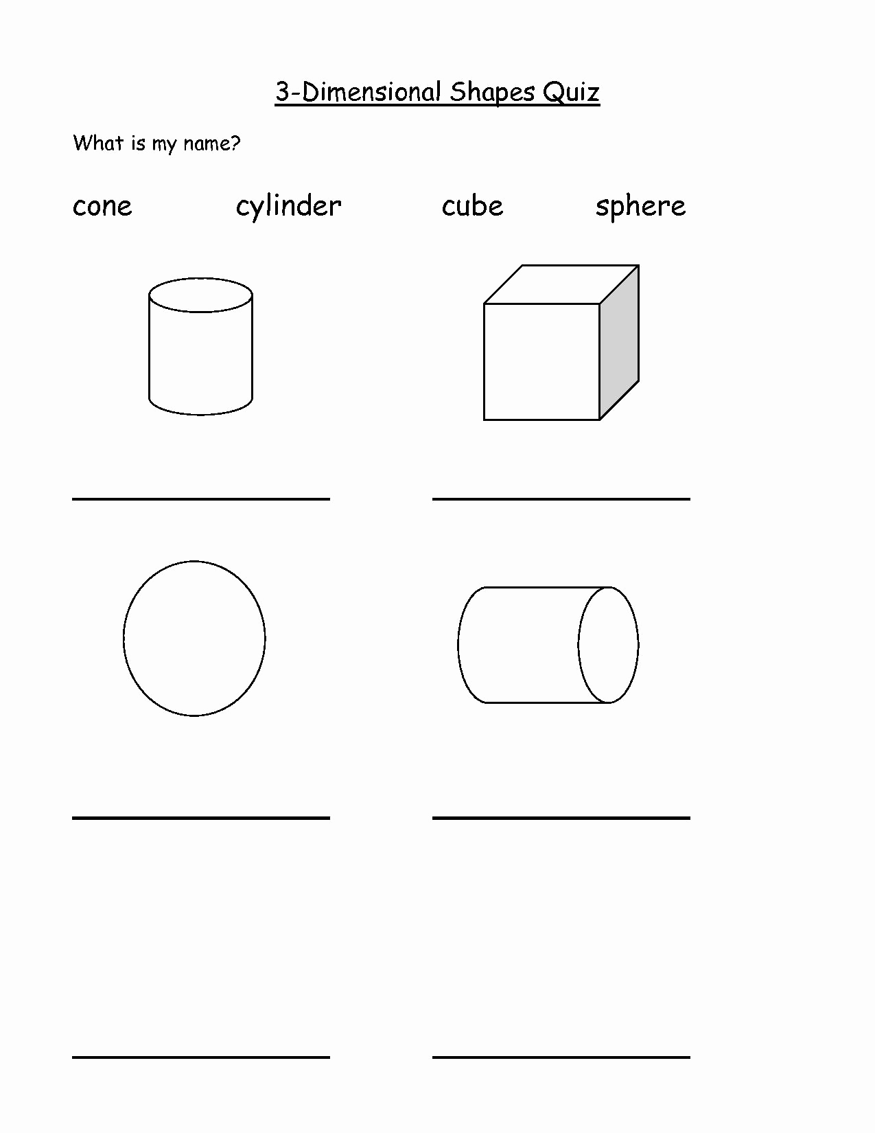 3 Dimensional Shapes Worksheet Fresh 12 Best Of 3 Dimensional Shape Worksheets Printable