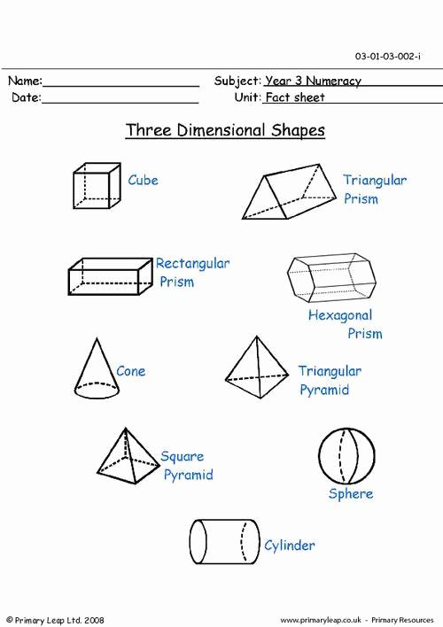 3 Dimensional Shapes Worksheet Lovely Three Dimensional Figures Worksheet