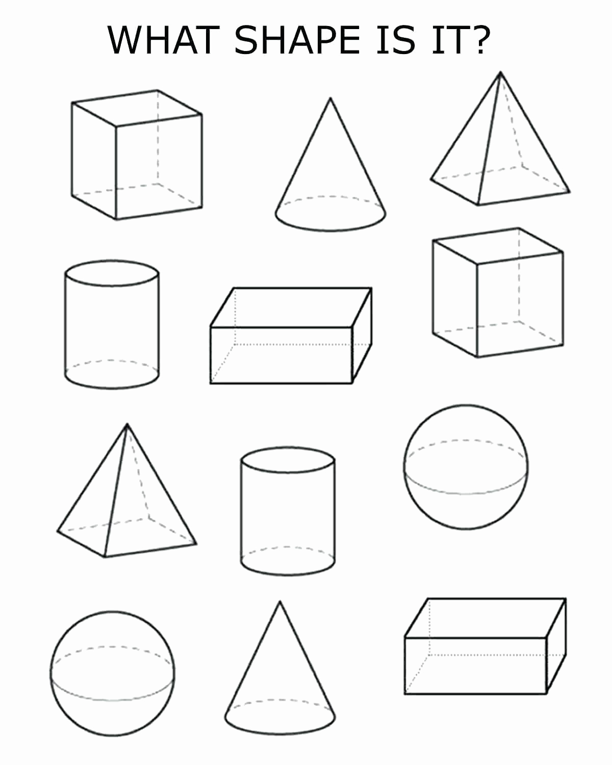 3 Dimensional Shapes Worksheet Luxury 3 Dimensional Shapes Drawing at Getdrawings