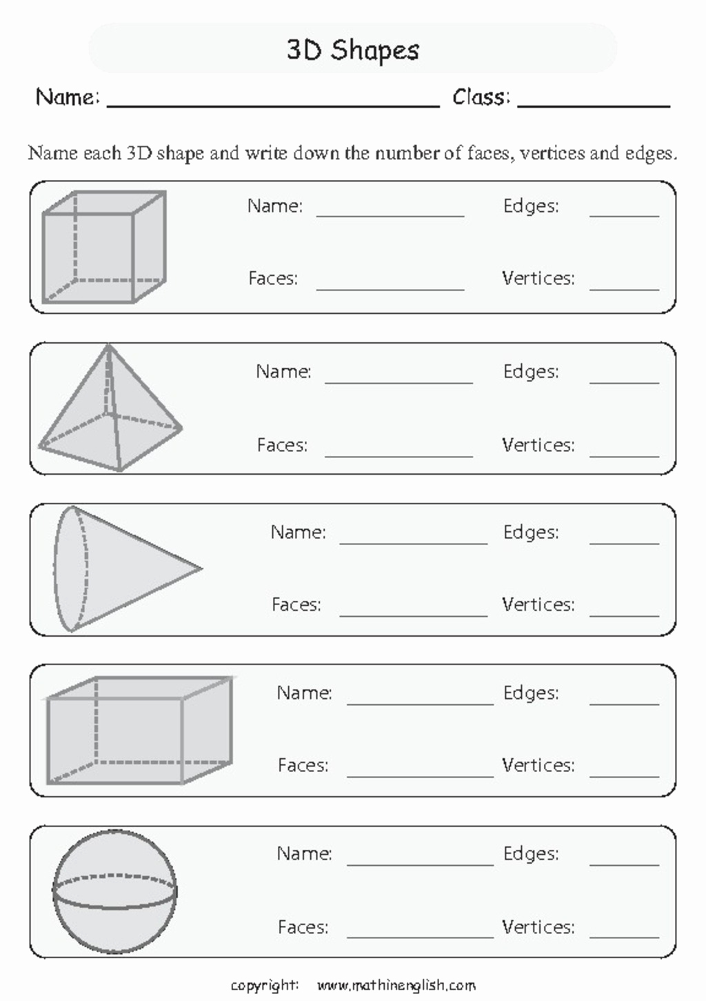 3 Dimensional Shapes Worksheet Luxury Classifying 3d Shapes Collection