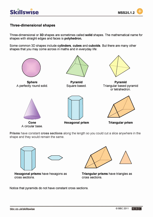 3 Dimensional Shapes Worksheet New 3 Dimensional Shapes Drawing at Getdrawings
