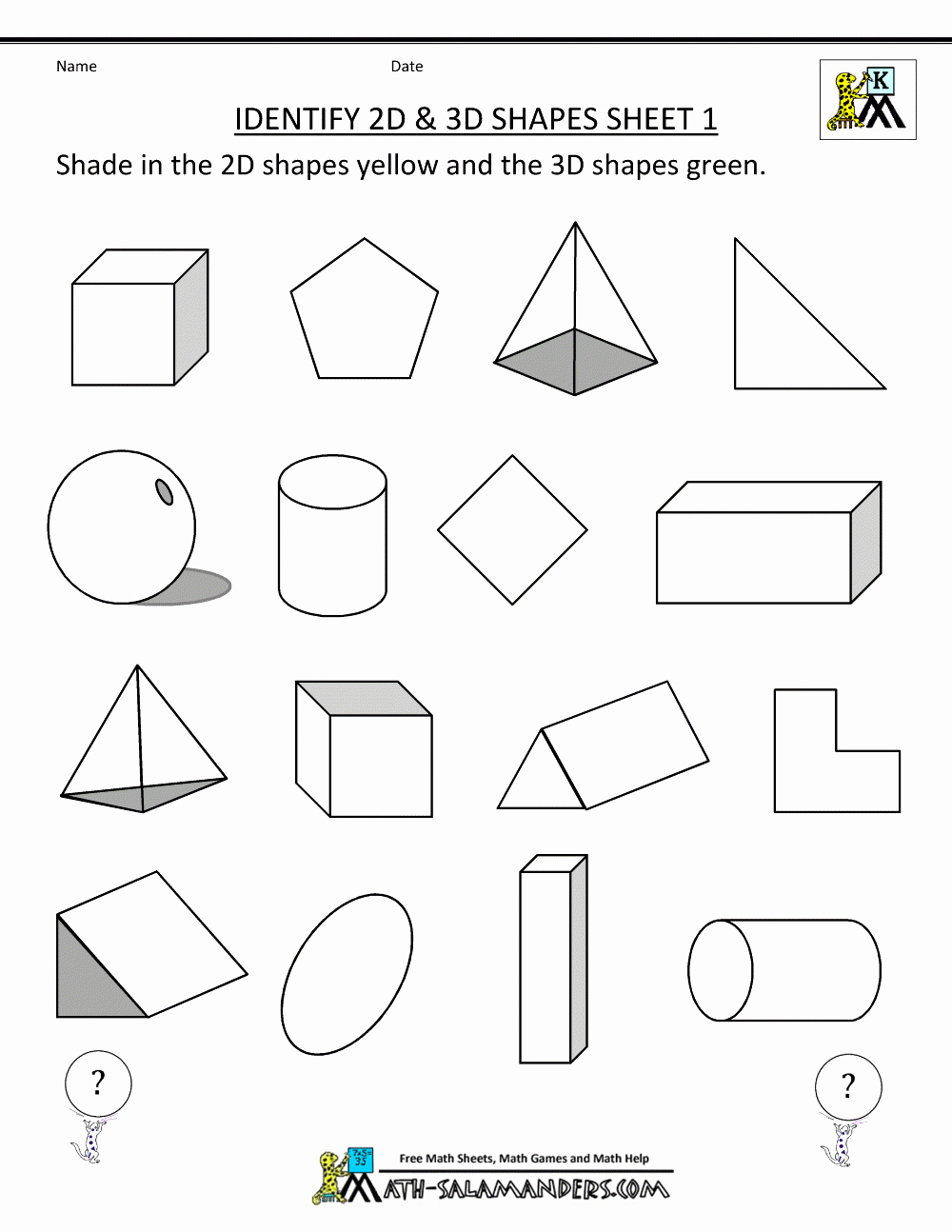 3d Shapes Worksheets 2nd Grade Elegant Free Printable Second Grade Geometry Worksheets