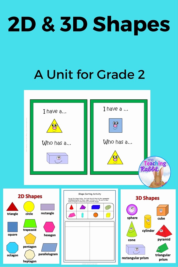 3d Shapes Worksheets 2nd Grade Fresh 2d & 3d Shapes Unit Grade 2