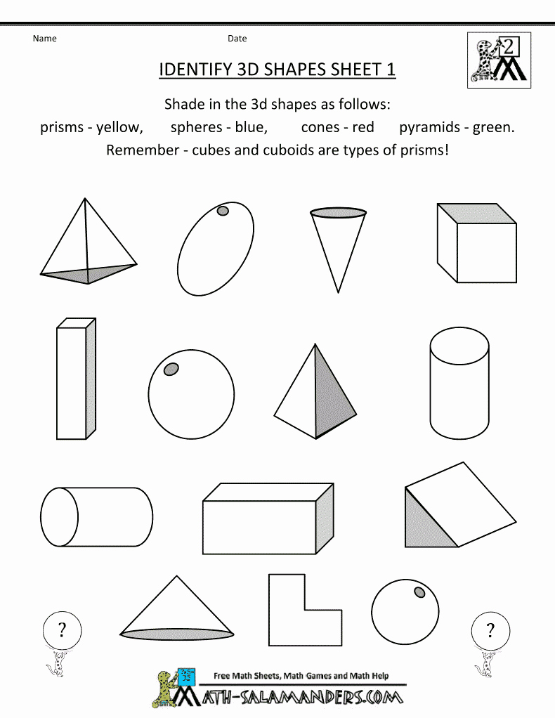 3d Shapes Worksheets 2nd Grade Inspirational Free Printable Second Grade Geometry Worksheets